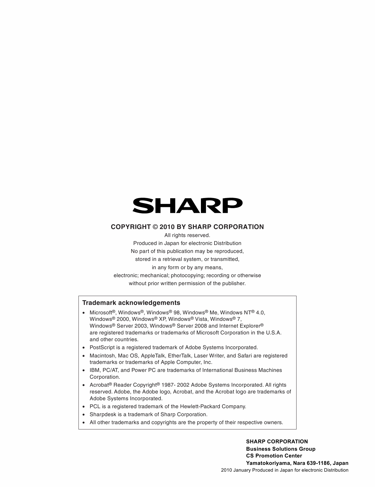 SHARP MX B400 B380 C400 C380 P Service Manual-6